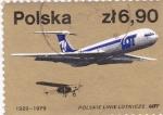 Sellos de Europa - Polonia -  50 aniv.de la aviación