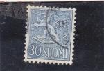 Stamps : Europe : Finland :  leon rampante