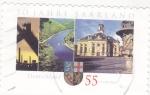 Sellos de Europa - Alemania -  universidad de Saarland y paisaje