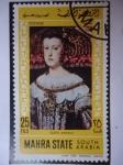 Stamps United Arab Emirates -  Mariana de Austria - Oleo de Diego Velázquez.