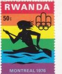 Stamps Rwanda -  olimpiada Montreal-76