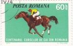 Sellos de Europa - Rumania -  centenario carreras de caballos en Rumania