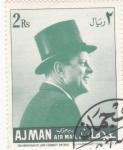 Sellos de Asia - Emiratos Árabes Unidos -  John F. Kennedy