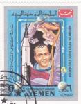 Sellos de Asia - Yemen -  aeronáutica- historia exploración del espacio
