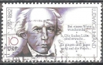 Sellos del Mundo : Europa : Alemania :  Johann Ludwig Uhland 1787-1862 (poeta y político) DDR.