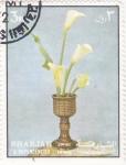 Sellos de Asia - Emiratos Árabes Unidos -  flores- SHARJA