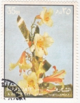 Stamps United Arab Emirates -  flores- SHARJA