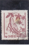 Sellos de Asia - Corea del sur -  flora- ginseng