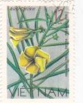 Stamps Vietnam -  flores-