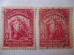 Sellos de America - Colombia -  Cruz roja colombiana.(2 sellos distinto)