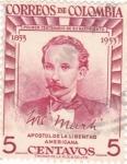 Sellos de America - Colombia -  José Martí- aposto de la libertad americana