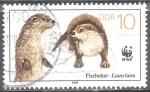 Sellos del Mundo : Europa : Alemania : Animales en peligro de extinción, nutrias (DDR).