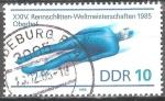 Sellos del Mundo : Europa : Alemania :  XXIV Campeonato del Mundo de luge de 1985, Oberhof-DDR.
