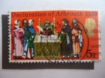Stamps : Europe : United_Kingdom :  Declaration of Arbroath 1320.