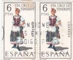 Sellos de Europa - España -  trajes regionales- Sta Cruz de Tenerife (23)