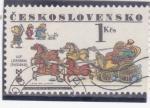 Stamps Czechoslovakia -  carruaje