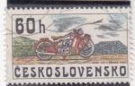 Sellos de Europa - Checoslovaquia -  motocicleta- jawa 175