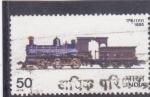 Sellos de Asia - India -  locomotora