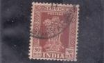 Stamps India -  columna de Asoca