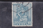 Stamps : Asia : India :  figura hindú