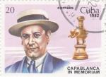 Stamps Cuba -  Capablanca in memorian
