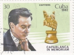 Sellos de America - Cuba -  Capablanca in memorian