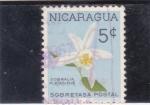 Sellos de America - Nicaragua -  flores- sobralia