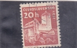 Stamps Czechoslovakia -  castillo de Kost