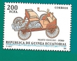 Stamps Equatorial Guinea -  AUTOMOVILES - Primer vehículo Ford