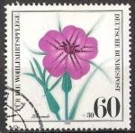 Stamps Germany -  907 - flor agrostemma githago