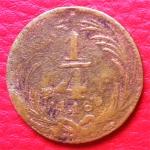 monedas del Mundo : America : México :  Moneda 1/4 De Real 1835 México