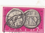 Stamps : Europe : Greece :  moneda antigua