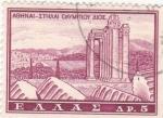 Sellos de Europa - Grecia -  ruinas