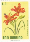 Stamps San Marino -  flores-