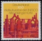 Sellos de Europa - Alemania -  ALEMANIA - Fábrica siderúrgica de Völklingen