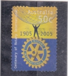 Sellos de Oceania - Australia -  centenario de Rotary International
