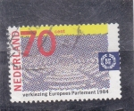 Stamps Netherlands -  ilustracion parlamento europeo