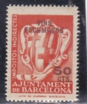 Stamps : Europe : Spain :  Barcelona - Impuestos Indirectos, para Vinos Espumosos