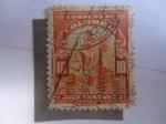 Stamps Colombia -  Buscador de Oro - Minero - Serie: Industria - Minas de Oro.