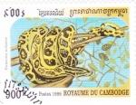 Stamps Cambodia -  serpiente