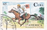 Stamps Cuba -  UPAEP  transporte postal
