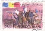 Stamps Romania -  revolución popular en Rumanía