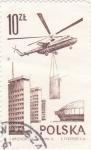 Sellos del Mundo : Europa : Polonia : helicoptero