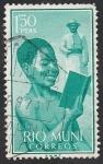 Stamps : Africa : Equatorial_Guinea :  Rio Muni 1960 - 5 - Niño indígena