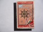 Stamps Switzerland -  Rheinschiffahrt 1904-1954.