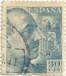 Stamps Europe - Spain -  GENERAL FRANCO, TIPO DE 1939. VALOR FACIAL 30 Cts. EDIFIL 924