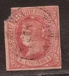 Stamps : Europe : Spain :  Isabel II 4 cuartos 1864