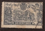 Stamps : Europe : Spain :  III Cent Don Quijote 1905 50 cents