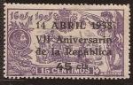 Stamps : Europe : Spain :  VII Aniversario República Española 1938 45 cents
