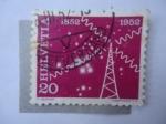 Sellos de Europa - Suiza -  Helvetia - 1852-1952 (Yv/519)